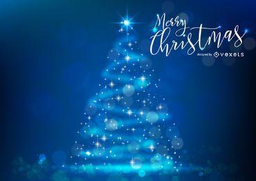 Árvore de Natal brilhante com bokeh