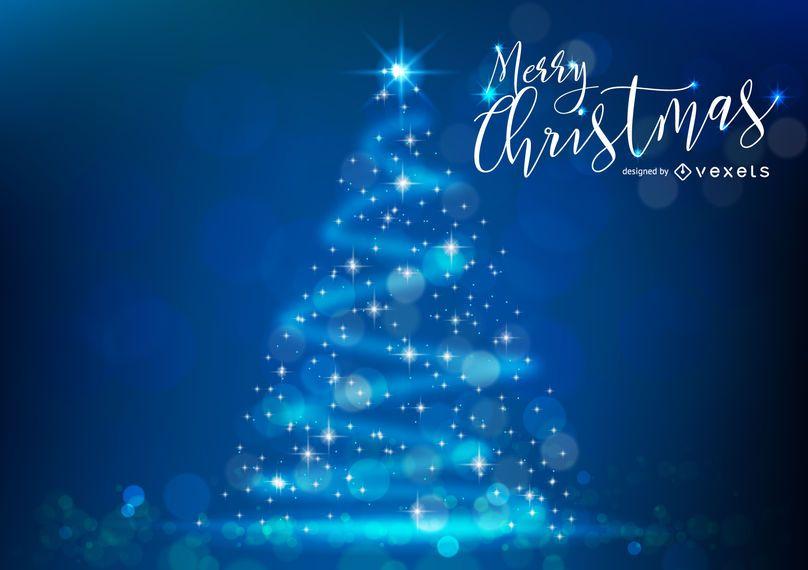 Árbol de Navidad con purpurina y bokeh.