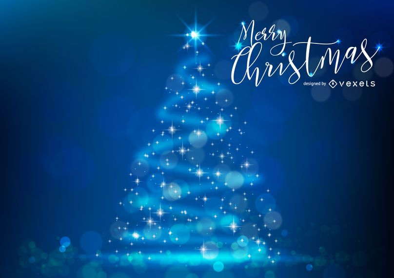 Árvore de Natal de brilho com bokeh