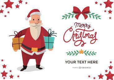 Fabricante de cartão de saudação de Natal de Papai Noel