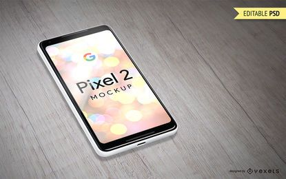 Plantilla de maqueta de Google Pixel 2
