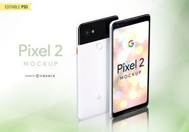 Maquete do PSD do Google Pixel 2