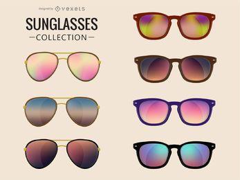 Coleção de óculos de sol ilustrados