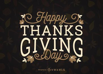 Happy Thanksgiving Day leaves design