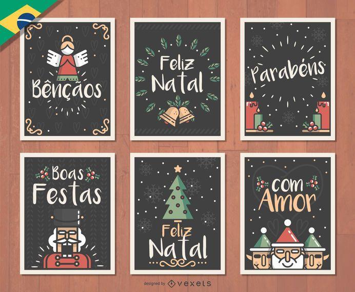 Portuguese Feliz Natal Christmas card set