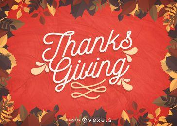 Sinal de feriado de Ação de Graças