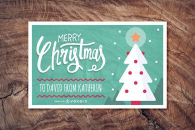 Lindo creador de tarjetas de Navidad