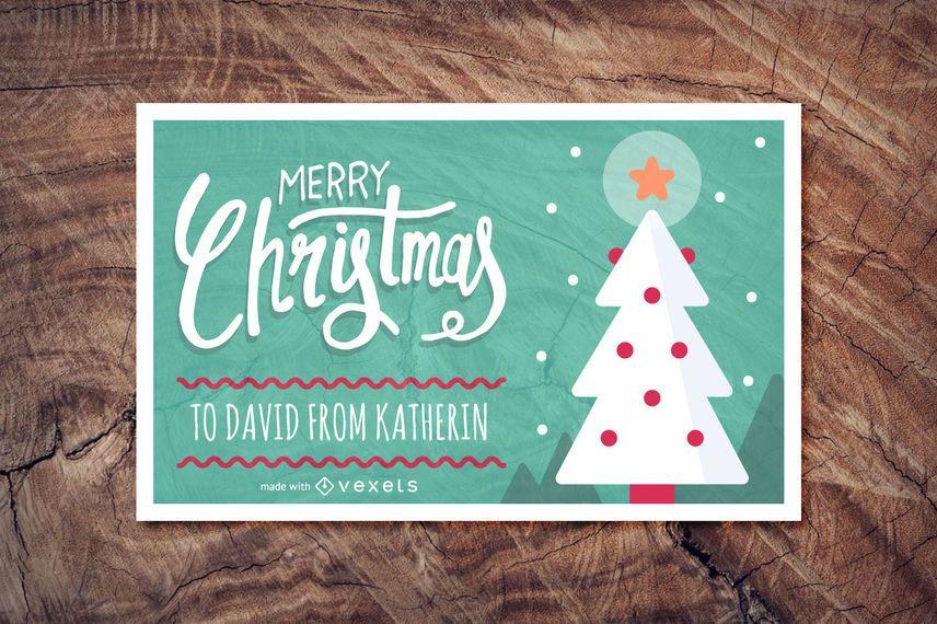 Lindo fabricante de tarjetas de navidad