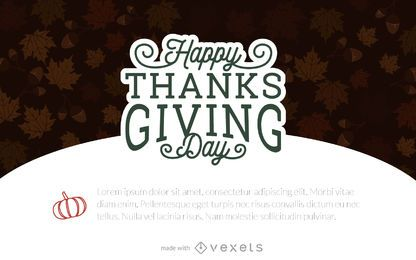 Creador de tarjetas de acción de gracias