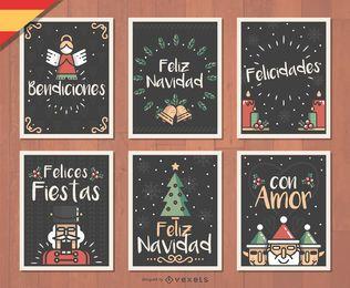 Cartão de Natal de Feliz Navidad do espanhol
