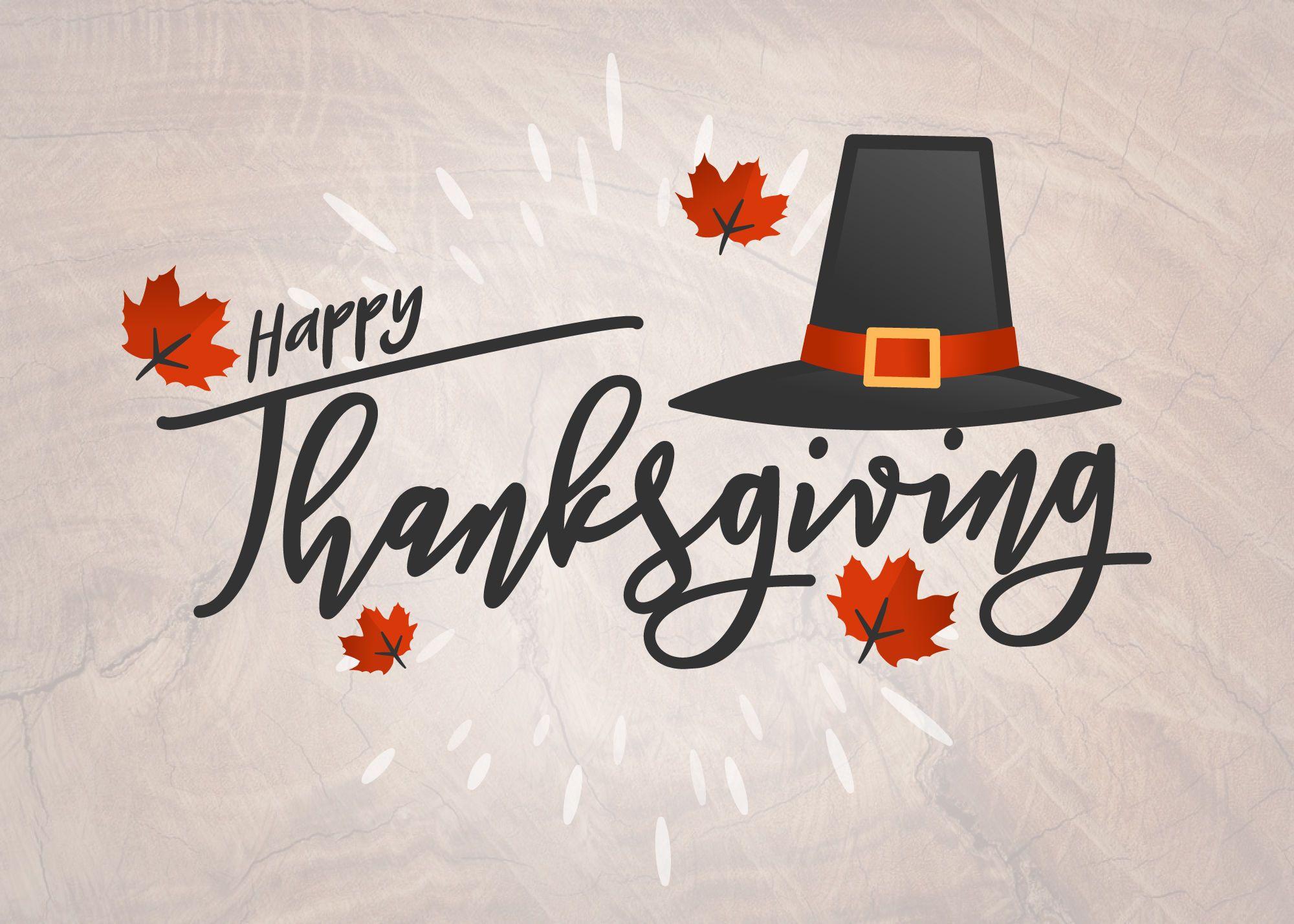 Hand written Happy Thanksgiving card