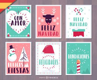 Feliz Natal Navidad Christmas card set