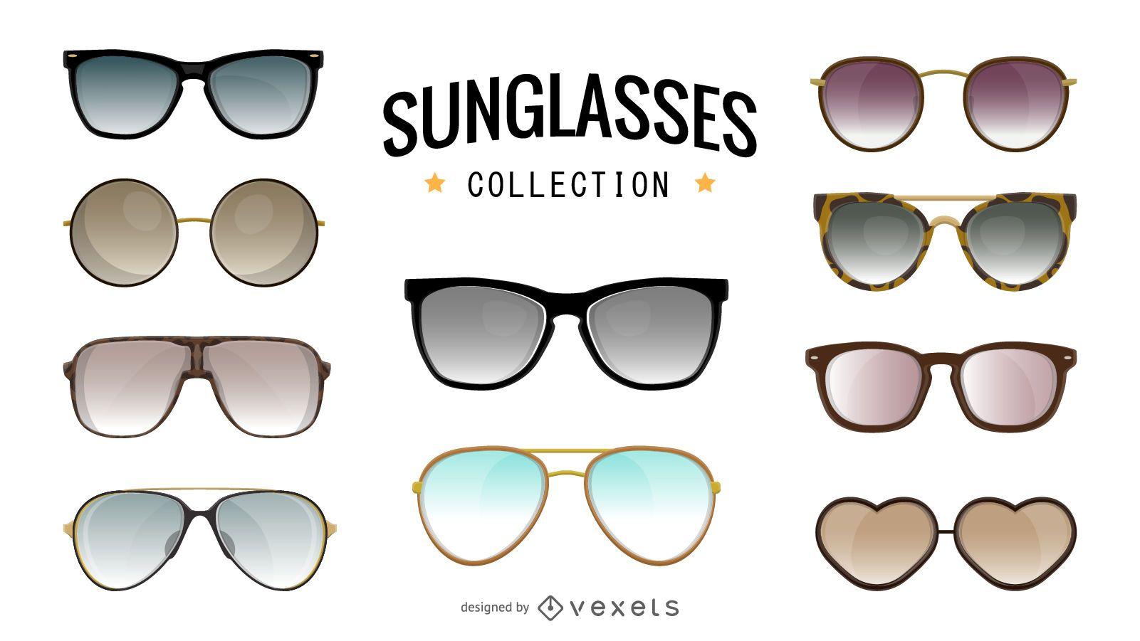 Sunglasses illustration collection