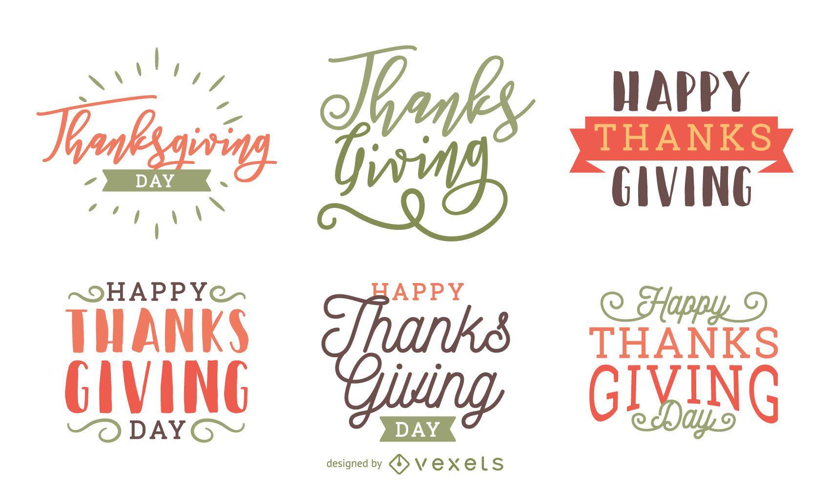 Thanksgiving badge label set