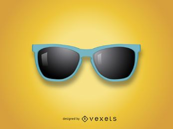 Ilustração realista de óculos de sol
