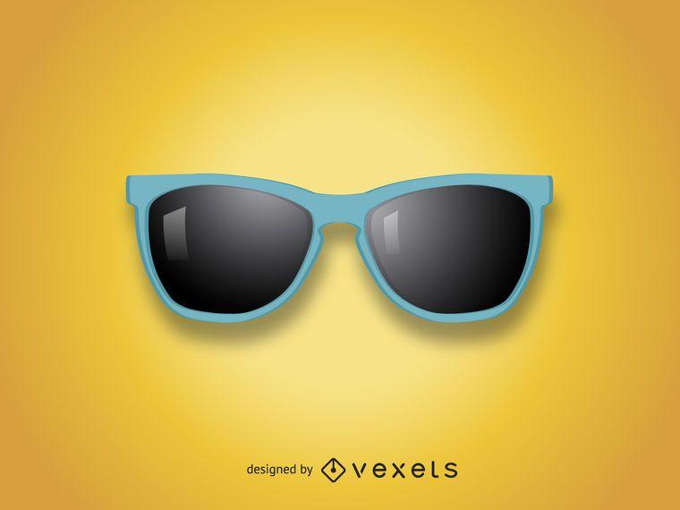 Ilustración de gafas de sol realistas