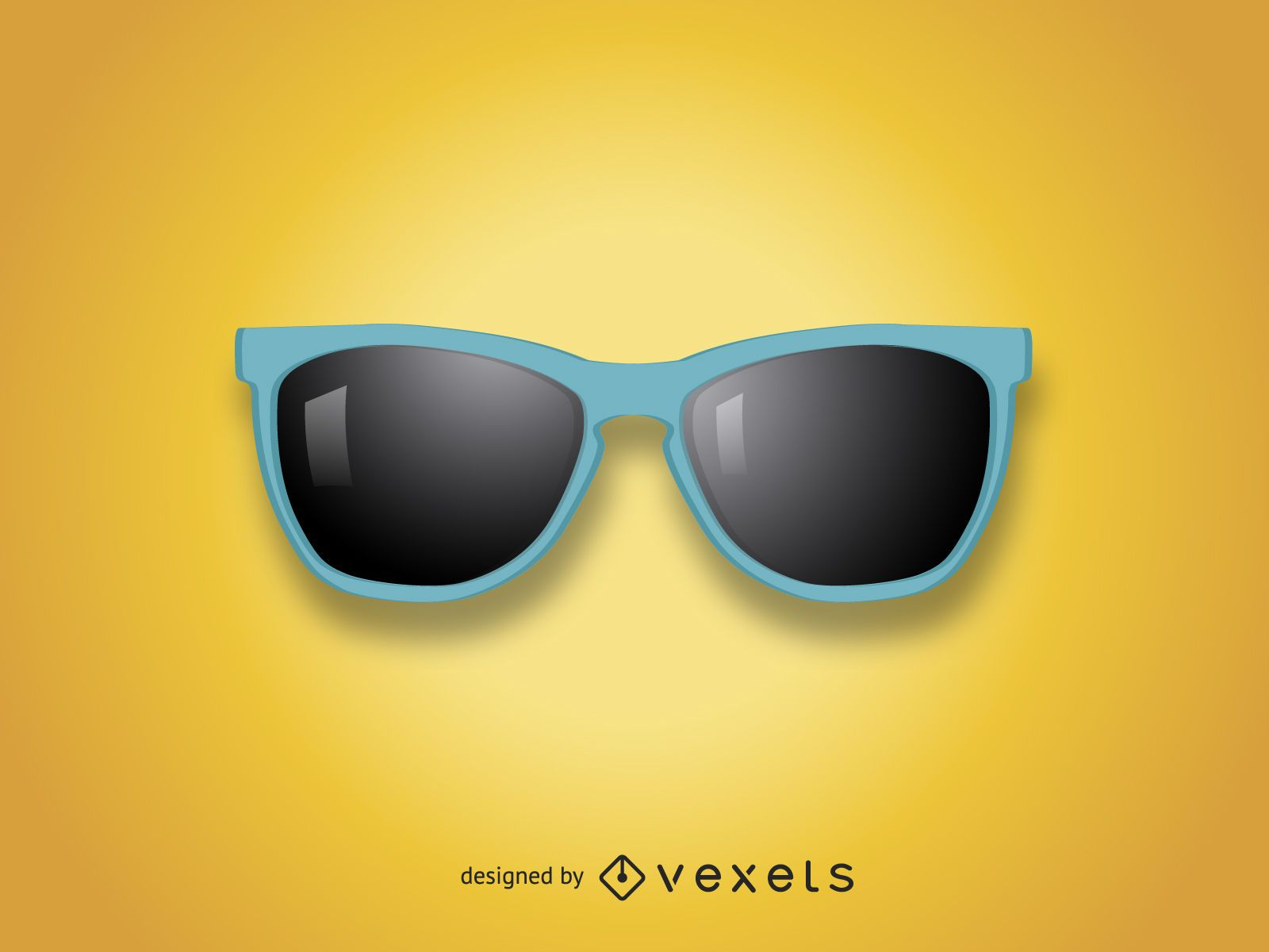 Realistic sunglasses illustration