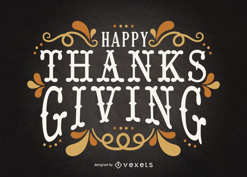 Tarjeta de letras de Acción de Gracias