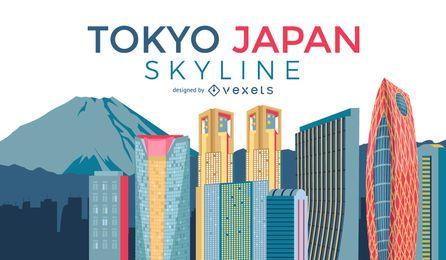 Horizonte da cidade de Tóquio