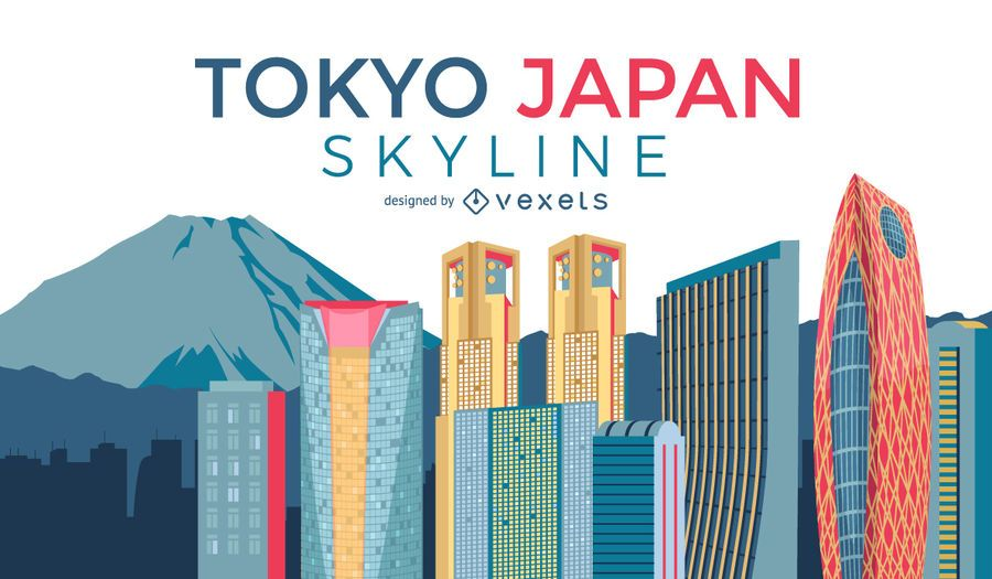 Horizonte de la ciudad de Tokio