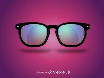 Óculos hipster realista