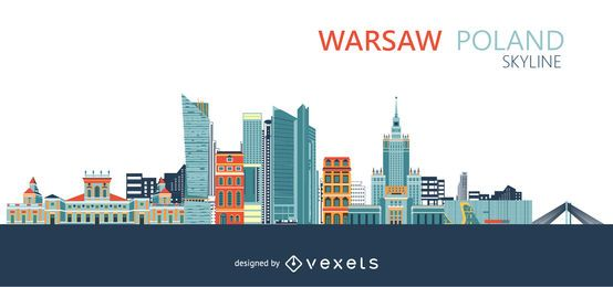 Horizonte de la ciudad de Varsovia Polonia