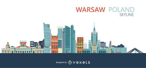 Skyline de cidade de Varsóvia Polónia