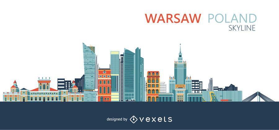 Warschau-Skyline der Stadt