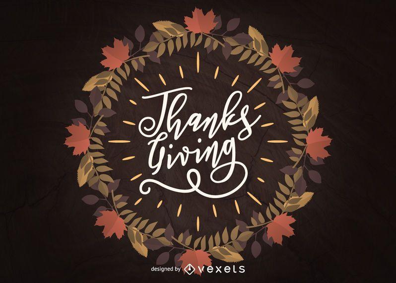 Thanksgiving frame illustration