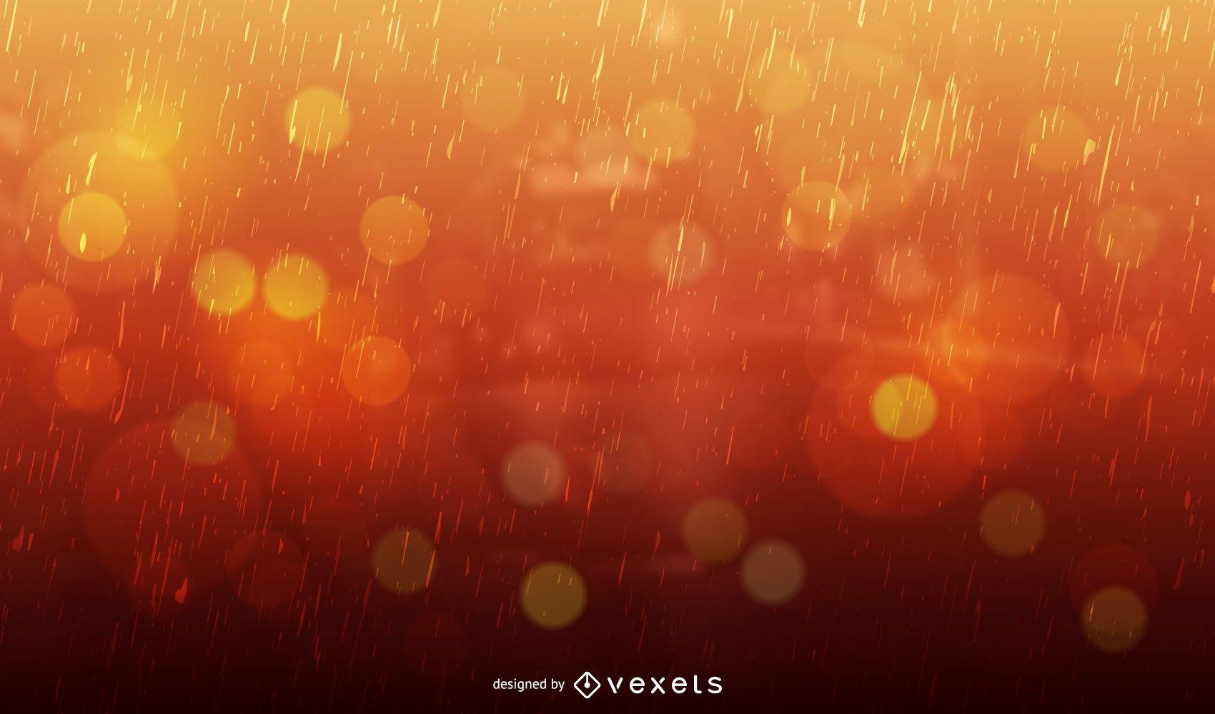 Bokeh backgroun with rain