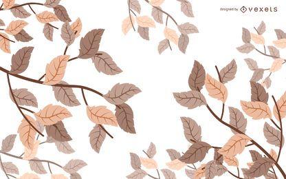 Hojas de otoño ilustradas de fondo