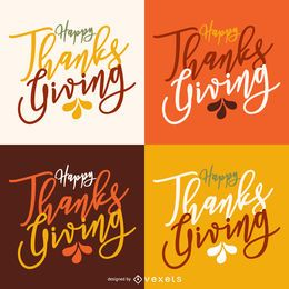 Calligraphic Thanksgiving label card