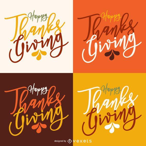 Calligraphic Thanksgiving label card