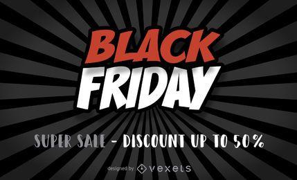 Cartel de venta del viernes negro
