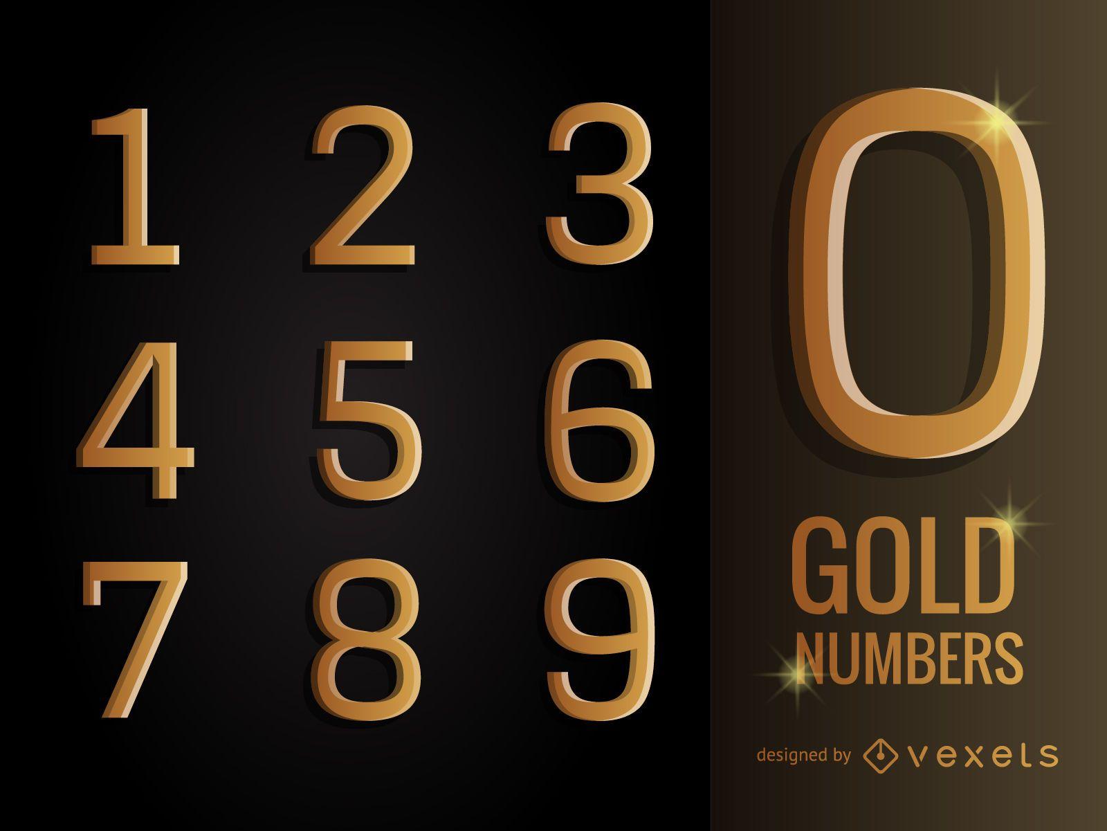 Página 3 De 5: Pack De Numeros Dorados 3d