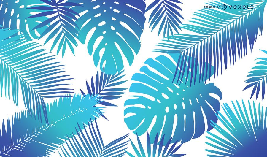 Bright tropical leaves background