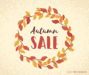 Autumn sale leaves frame