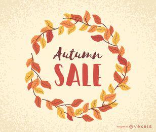 Marco de hojas de venta de otoño