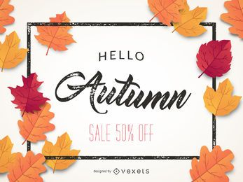 Autumn sale banner 50% off