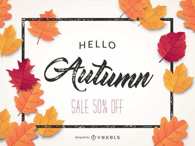 Autumn sale banner 50% off
