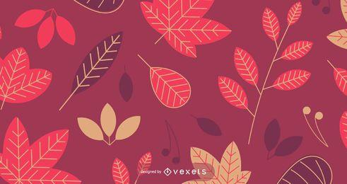 Patrón de otoño inconsútil con hojas
