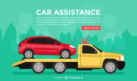 Car assistance banner poster