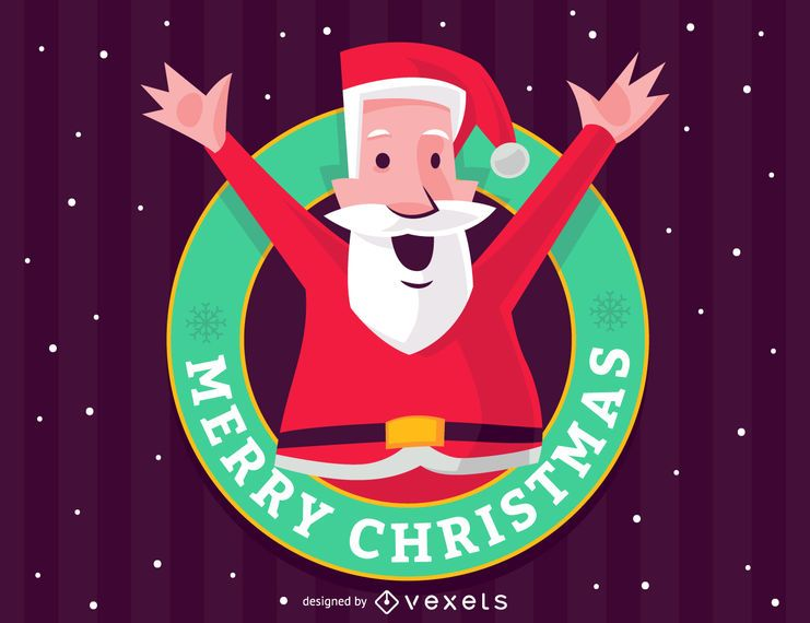 Merry Christmas Santa Claus sign