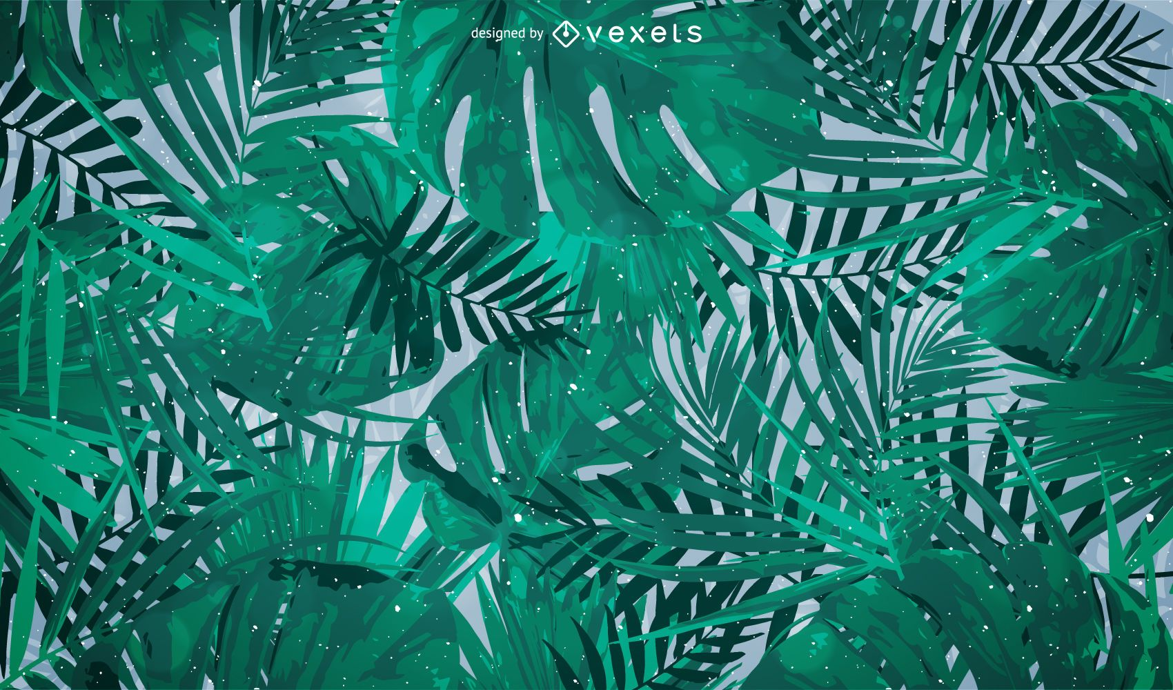 Palmeira tropical com folhas de fundo