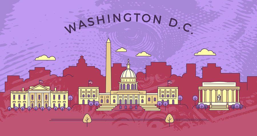 Skyline de Washington de acidente vascular cerebral
