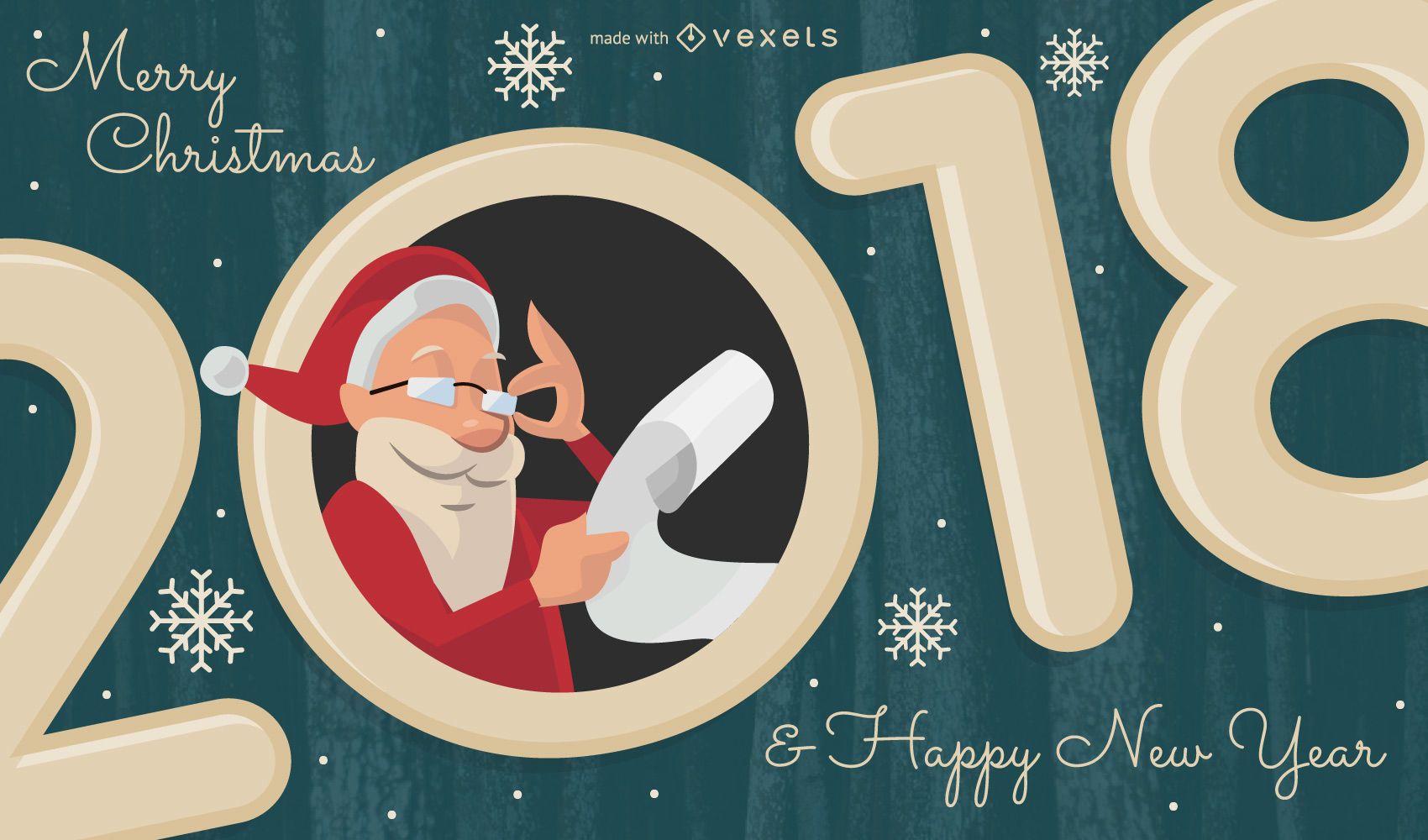 2018 vacaciones con creador de ilustraciones de Santa