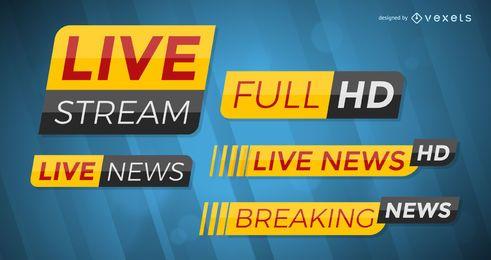 Breaking news template set