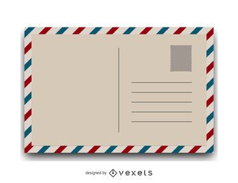 Ilustração vintage do cartão postal