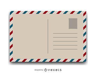Ilustração de cartão postal vintage