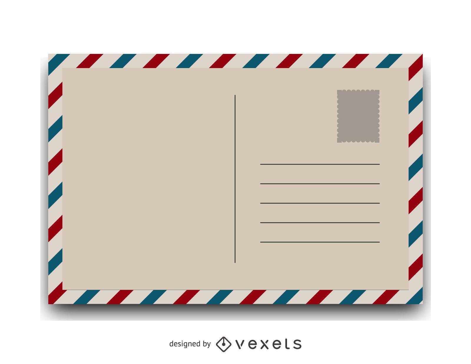 Ilustración de postal vintage